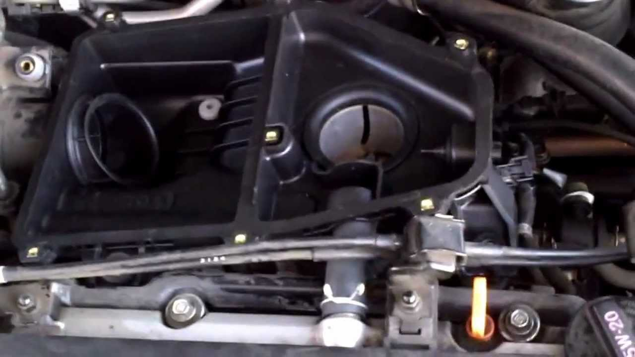 How to replace the air cleaner housing for a 2003 Honda civic LX - YouTube