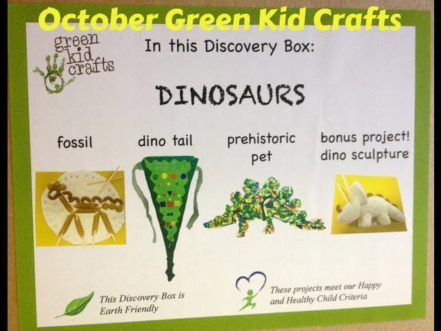 Oct Green Kid Crafts: Dinosaur Crafting + Discount info