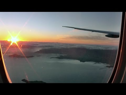 Air New Zealand 777-319ER LAX-AKL inflight Takeoff and Landing Gate to Gate