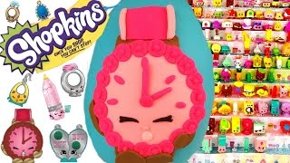 SHOPKINS Limited Edition Ticky Toc Play Doh Surprise Egg! 12 Packs! Blind Bags!