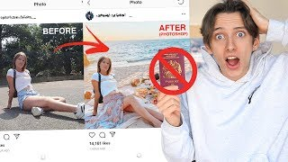 I FAKED my FANS HOLIDAY photos!! *PHOTOSHOPPING my FANS INSTAGRAM*