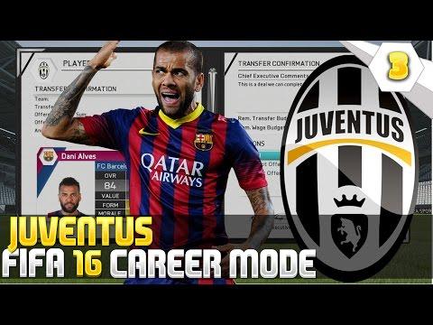 Dani Alves to Juventus - Fifa 16 Juventus Career Mode
