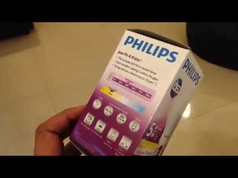 Philips LED E27 2700K 5W Bulb Vs 11W CFL Review