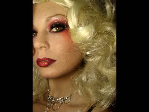 Christina Aguilera - Lady Marmalade Music Video Inspired Moulin Rouge Halloween Makeup