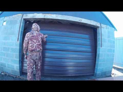 Вертикальные ворота в гараж своими руками видео
