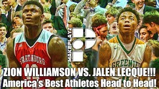 Zion Williamson vs. Jalen Lecque! Top Athletes in the Country Battle it Out!!!