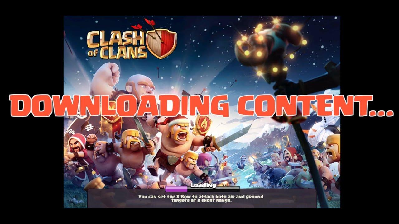Cara Mengatasi Masalah Downloading Content di COC(Clash of Clans) Terbaru