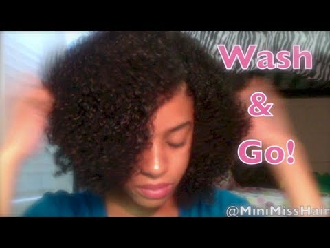 Wash and Go Tutorial on Kinky Curly Virgin Hair!