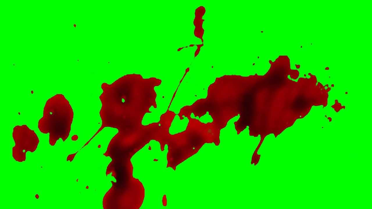 Blood Splatter Green Screen Hd Youtube