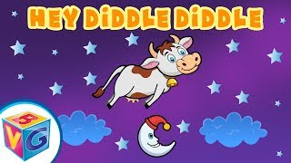 Hey Diddle Diddle Kids Song - Watch the Cow Jump Over the Moon