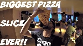 BIGGEST PIZZA SLICE EVER!! FT TOMSKA