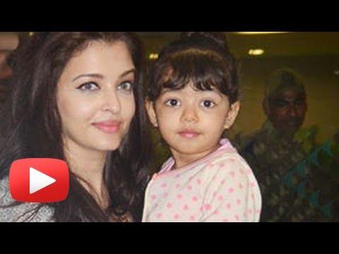 Aishwarya Rai And Baby Aaradhya Bachchan Return From Dubai - Spotted video