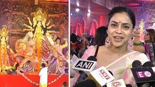 Sumona Chakravarti Attend Sarbojanin Durga Puja Samiti Maha Saptami | Sumona Interview 2018