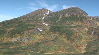 大雪山系に秋の訪れ
