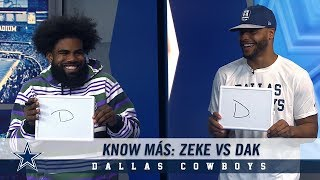 Know Más: Ezekiel Elliott vs. Dak Prescott | Dallas Cowboys 2018