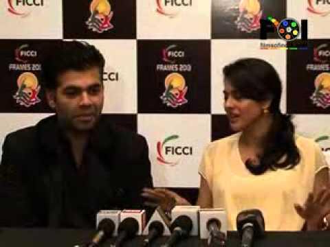 Kajol and Karan Johar at FICCI Frames
