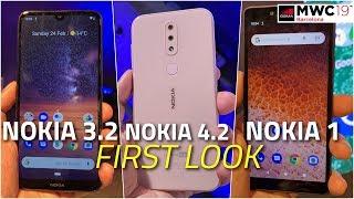 Nokia 3.2, Nokia 4.2, Nokia 1 Plus First Look