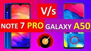 Redmi Note 7 Pro Vs Samsung Galaxy A50 Comparison | Price | Specs | Camera | Battery | Display
