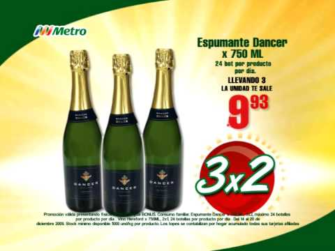 Metro - Uno Gratis - Espumante Dancer x 750ml, Vino Hereford Tinto x 750ml