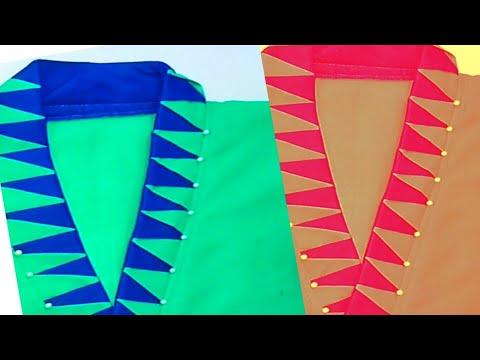 Very creative and latest neck design/beautiful kurti neck design