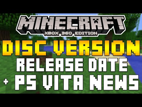 Minecraft Xbox One - Disc Version Release Date Confirmed & PS Vita Minecraft Update! [NEW INFO]