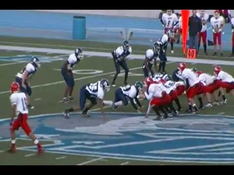 John Hawkins #56-Des Moines, IA Roosevelt High School 2011vs East High-Nice Tackle.MP4