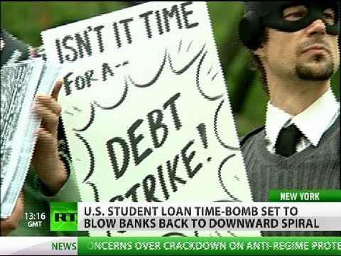Occupy Graduation: US student loan trillion dollar ticking time bomb