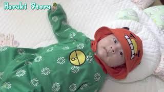 獅子舞のベビー服でご機嫌の赤ちゃん - Baby Vlog