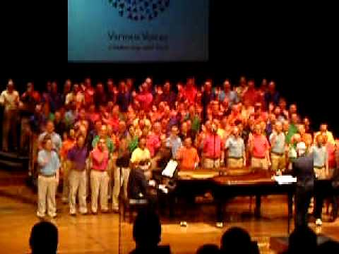 The London Gay Men's Chorus rehearsing songs for their forthcoming concert, ...