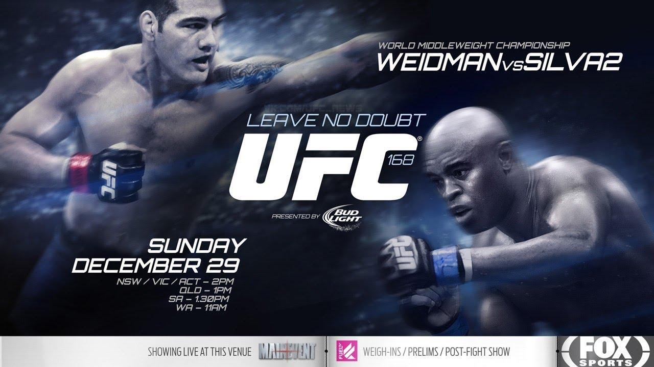 Ufc 168 Weidman Vs Silva 2 Weidman vs Silva II Promo UFC