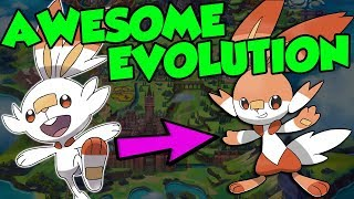 NEW Pokemon Gen 8 Starter Pokemon Evolutions!