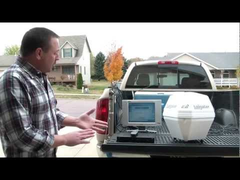 3. Aiming. Connecting & Setup - DISH Network Tailgater Portable Satellite Antenna
