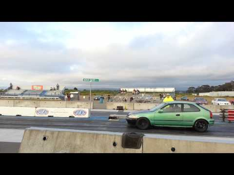 99 ek b18 gsr turbo vs. Camaro split bumper