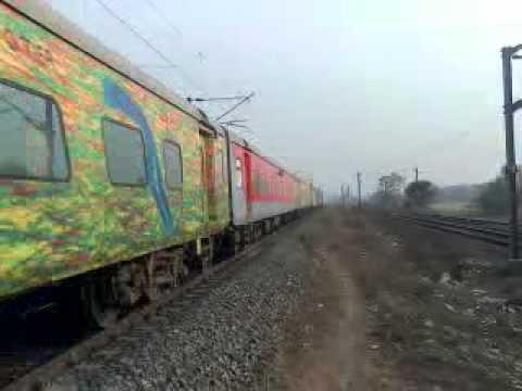 Honking Sealdah Duronto at Dhaniakhali