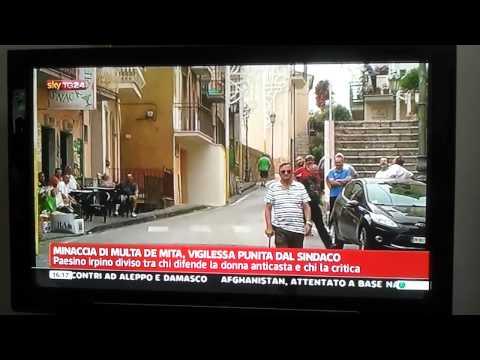 "Sky TG24 Pratola Serra ""Minaccia di multa De Mita, vigilessa punita dal Sindaco"""