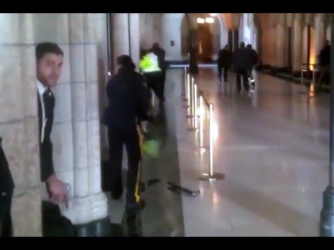 PRIMERAS IMÁGENES: tiroteo en el edificio del parlamento de Canadá, en Ottawa