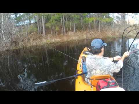 Kayak Fishing for Crappie #103 1 19 12