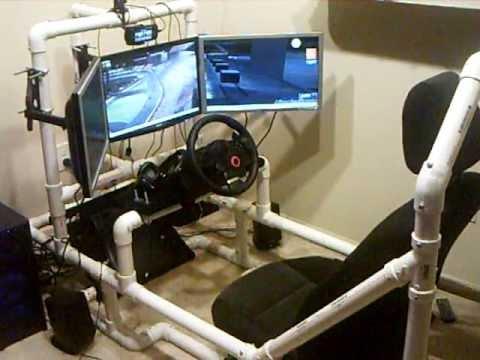 My custom PVC sim racing cockpit