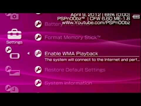 PSP Custom Firmware 6.60 ME\LME 1.8 (LightSpeed Final) (All PSP's)