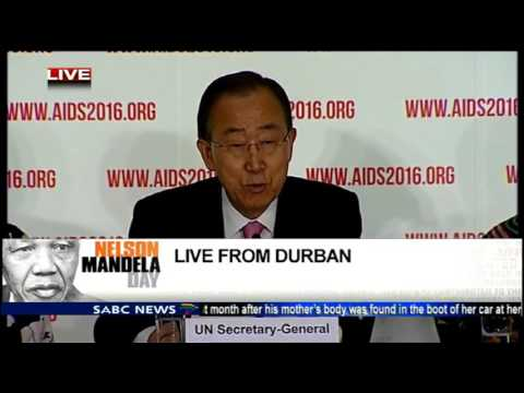 Ban Ki-moon at International AIDS Conference