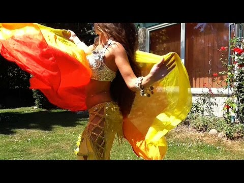 Belly Dance With Veil And Fan Veil By Isabella 2015 - الموسيقى العربية HD