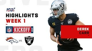 Derek Carr's Clutch Night, Throws 21/26 | NFL 2019 Highlights