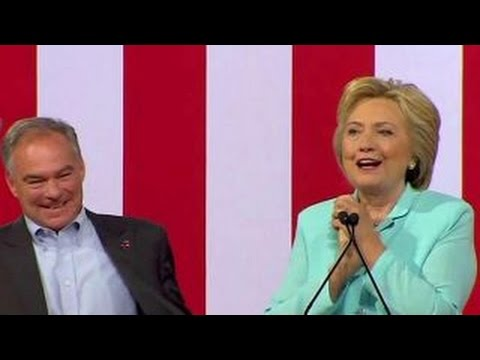 Clinton: Senator Kaine is everything Trump, Pence are not