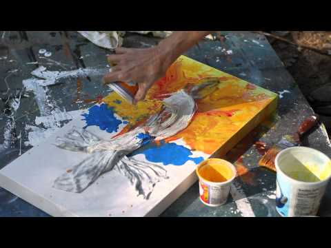 Watch full screen in HD as Texas artist Dana Lynch creates an abstract art piece right before your eyes! Final painting can be seen here: http://imgur.com/4Y...