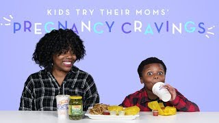 Kids Try Their Moms' Pregnancy Cravings | Kids Try | HiHo Kids