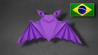 Origami: Morcego - Instruções em Português PT BR