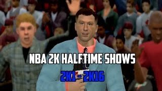 DIDN'T KNOW THEY HAD THIS! Evolution of NBA 2K Halftime Shows! - (2K1-2K16)