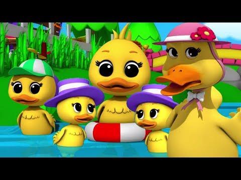 Lima Bebek Kecil | sajak pembibitan | lagu anak anak | Preschool Songs | Five Little Ducks