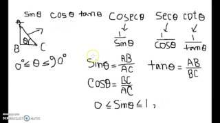 Trigonometry (ত্রিকোণমিতি)/ 2nd chapter, 1st part: ত্রিকোণমিতিক অনুপাত( trigonometric ratio)