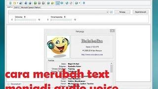 Cara merubah text ke audio voice menggunakan balabolka